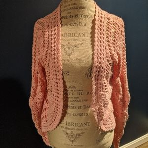 Pacific Heights Casual Pink Cardigan